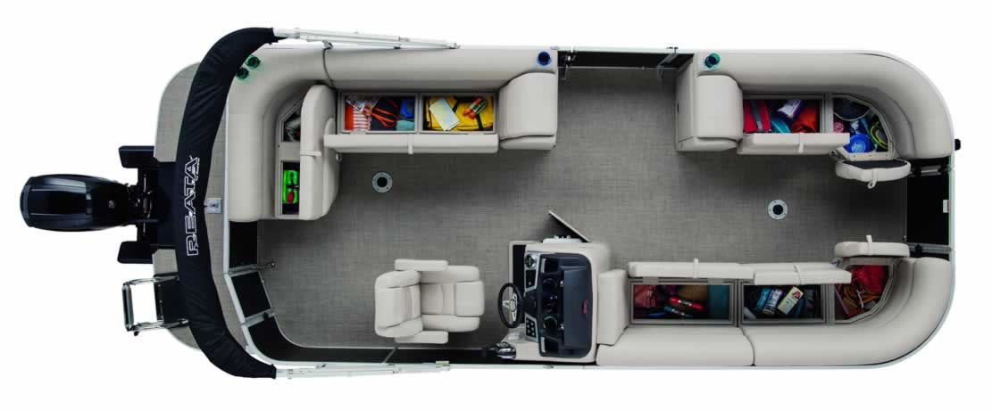 2017 Ranger Reata RP223C Triple-Tube Cruise Pontoon - Mercury