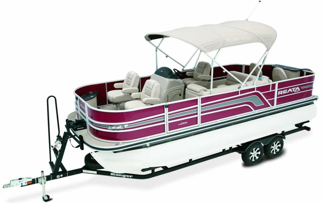 Ranger Reata Pontoon Boats - RP200F Fish